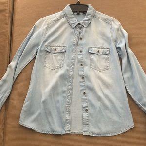 Jean button up shirt, Hallogen brand size S/P